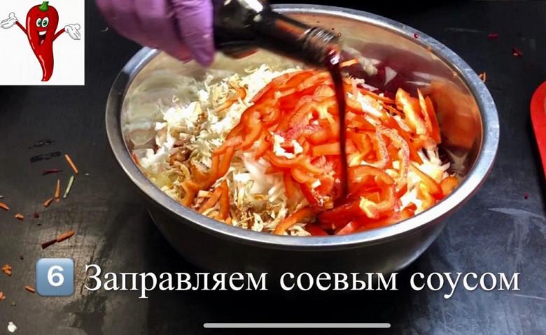 Супер легкий салат «Щётка» готовим дома фото 8