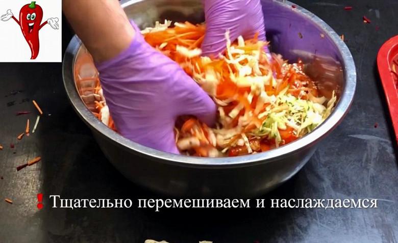 Супер легкий салат «Щётка» готовим дома фото 10