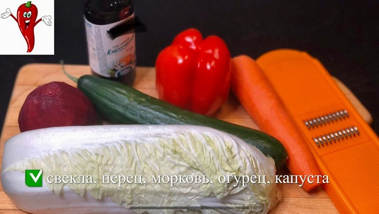 Супер легкий салат «Щётка» готовим дома фото 2