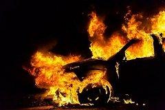В Хабаровске сожгли дорогостоящий внедорожник