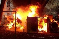 Ребенок погиб при пожаре в палаточном лагере под Хабаровском