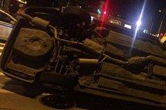 Иномарка с пьяным водителем и ребенком в салоне перевернулась в Хабаровске