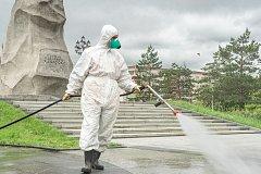 Масштабную санитарную обработку улиц проведут в Хабаровске из-за роста числа заболевших COVID-19