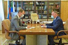 Михаил Дегтярёв и председатель краевой избирательной комиссии обсудили подготовку к выборам