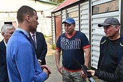 Михаил Дегтярев побывал с рабочим визитом в Аяно-Майском районе