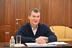 Рейтинг Михаила Дегтярева в Хабаровском крае за два месяца вырос на 15%