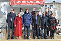 Михаил Дегтярев принял участие в открытии школьного спорткомплекса в Солнечном