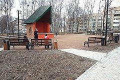 Вандалы украли скамейки из отремонтированного сквера в Хабаровске