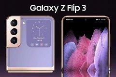 Появились высококачественные рендеры грядущего Samsung Galaxy Z Flip 3