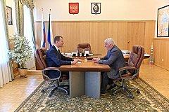 Дегтярев встретился с региональным руководителем одной из новых политических партий
